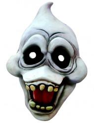 Freche Gespenstermaske weiss-schwarz