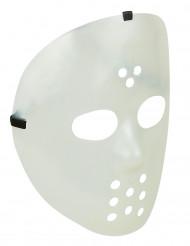Nachtleuchtende Horror-Maske Hockey-Maske transparent-schwarz