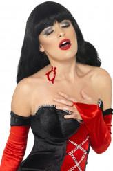 Schminke Vampirbisswunde Erwachsene rot