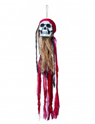 Hängedeko Piratenschädel Halloween Party-Deko rot-bunt 90cm