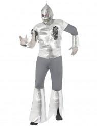 Horror-Blechmann Halloween Kostüm Roboter silber-grau