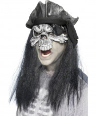 Skelett Zombie Halbmaske Halloween Maske weiss-schwarz