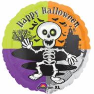 Süsser Folien-Luftballon Skelett Halloween Party-Deko bunt 46cm