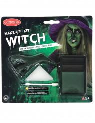 Halloween Hexen-Schminkset grün-braun-schwarz