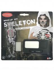 Halloween Makeup Schminkset Skelett Motiv