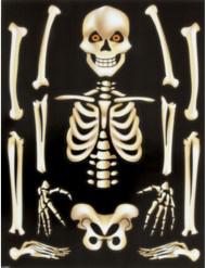 Halloween Skelett Fenster-Aufkleber 30x40cm