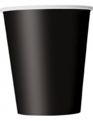 Becher Set Partybecher 8 Stück schwarz 250ml