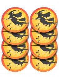 Halloween Tisch-Untersetzer Partydeko 8 stück schwarz-orange-gelb
