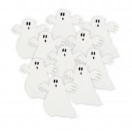 Geister-Tischdeko Halloweendeko 10 Stück weiss-schwarz