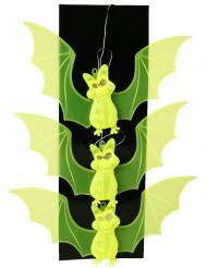 Fledermaus Lichterkette Halloween Party-Hängedeko gelb 23x63cm