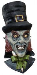 Irischer Kobold Leprechaun Halloween-Latexmaske bunt