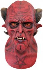 Schauriger Dämon Halloween-Latexmaske rot