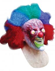 Zombie-Horrorclown Maske  Mutantenclown-Latexmaske rot-bunt