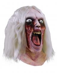 Zombie Maske blutige Augen mit Haaren Halloween Kostümaccessoire rot-weiss