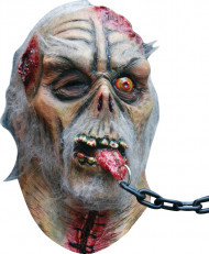 Angekettetes Monster Halloween Horror-Maske grün-grau