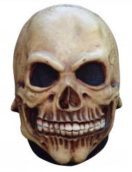 Totenkopf Maske Halloween Kostümaccessoire beige