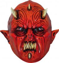 Dämon Monster Maske Halloween Kostümaccessoire rot