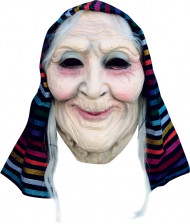 Alte Frau Maske Oma Vollmaske hautfarben-bunt