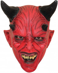 Teufelsmaske Halloween Kostümaccessoire für Teens rot-schwarz