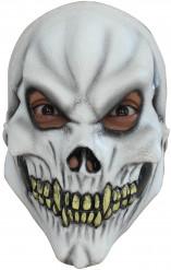 Skelett-Maske Halloween für Teens Kostümaccessoire weiss-schwarz-gelb