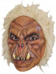 Yeti-Maske Monster-Kindermaske braun-weiss