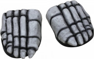 Skelett-Schuhe Halloween-Schuhüberzieher weiss-schwarz