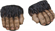 Gorilla Überzieh-Schuhe Kostümzubehör schwarz-beige