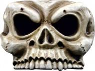 Skelett-Halbmaske Halloween Kostümaccessoire beige