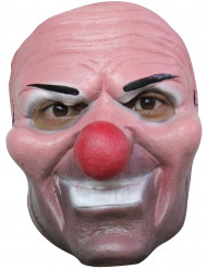 Schauriger Clown Halloween-Latexmaske hautfarben-bunt