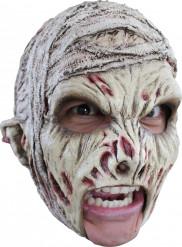 Mumie Halloweenmaske Horror-Accessoire grau-rot
