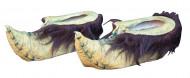 Wichtel Schuhe Kostümaccessoire beige-lila-grün