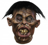 Abgetrennter Kopf Voodoo-Kopf braun-schwarz 21x19cm