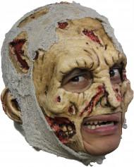 Zombie Maske Halloween Kostümaccessoire gelb-grau