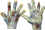 Handschuhe tot-lebendig für Erwachsene Halloween hautfarben