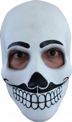 Tag der Toten Maske Herrenmaske für Halloween schwarz-weiss