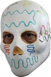Dia de los Muertos Maske Kostümaccessoire weiss-bunt