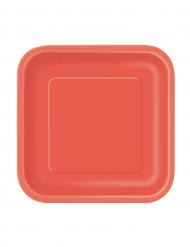 Party-Teller quadratische Teller 16 Stück rot 12,5x12,5cm