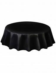 Schwarze und runde Tischdecke aus Plastik schwarz