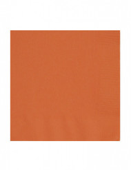 Servietten Set Papierservietten 50 Stück orange 34x34cm
