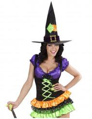 Kunstnägel Schwarzlicht Halloween 10 Stück neongrün