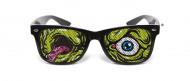 Nunettes™ Halloweenbrille Zombie schwarz-bunt
