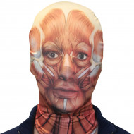 Morph Maske Muskeln Sehnen rot-weiss