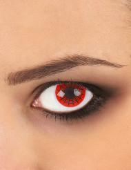 Kontaktlinsen Spinnennetz rot-schwarz
