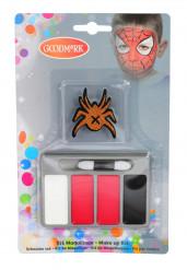 Spinnen-Schminke Halloween-Make-up 6-teilig bunt