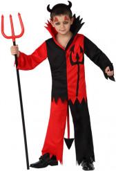 Teufel Kinderkostüm Halloween rot-schwarz
