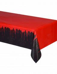 Blutige Tischdecke Halloween-Deko schwarz-rot 54x102cm