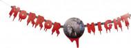 Banner Girlande Zombiehand Halloween Party-Deko bunt 130x28cm