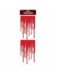 Blutgel Halloween-Wanddeko 2 Stück rot 49x16cm