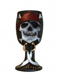 Piraten Becher Tischdeko schwarz-weiss-rot