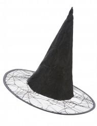 Schwarzer Grusel-Hexenhut schwarz